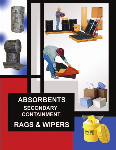 Absorbents, secondary containment, rags and wipes